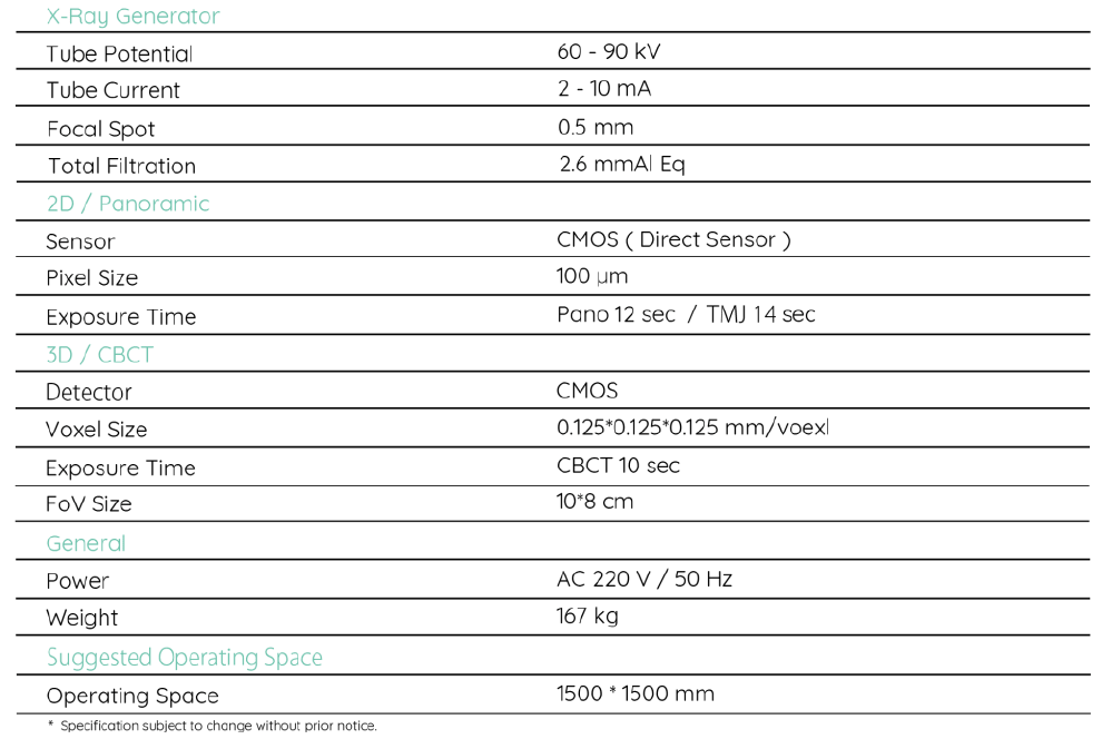 Techincal Specifications