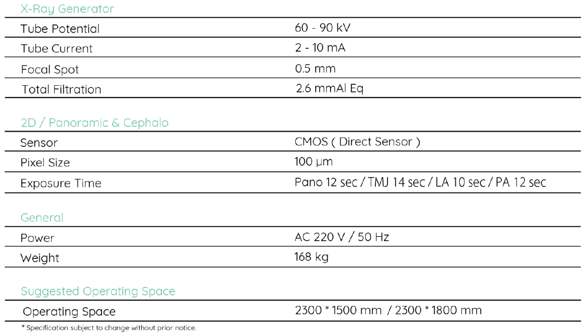Expert CP-E - Techincal Specifications