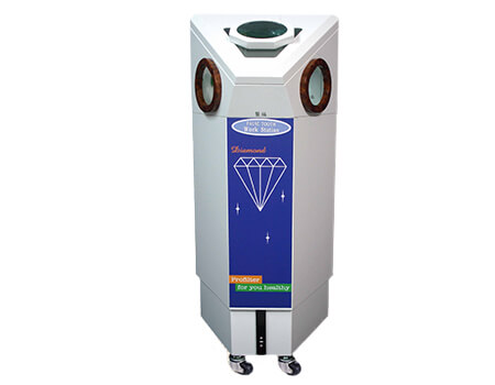 Clinical denture working dust collector