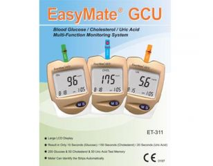 Blood Glucose, Cholesterol, Uric Acid Multi-Function Monitoring System