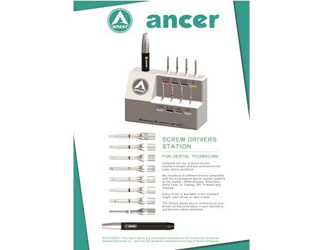 ancer®Screw drivers station(For dental technician)